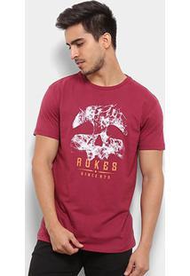 Camiseta Rukes Silk Smoke Mask Masculina - Masculino-Vinho