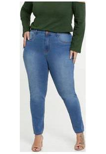 Calça Jeans Stretch Skinny Feminina Plus Size Marisa