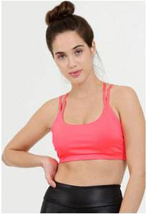 Top Feminino Fitness Neon Strappy Marisa