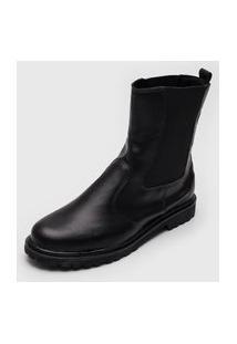 Bota Chelsea Dafiti Shoes Tratorada Preta