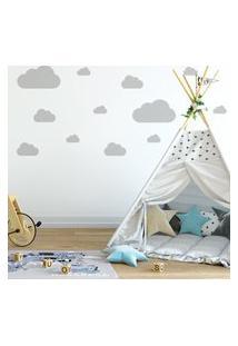 Adesivo De Parede Nuvens Cinza Para Quarto Infantil