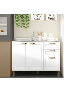 Balcão Multiuso Para Piá / Espaço Gourmet Karev Multimóveis Branco