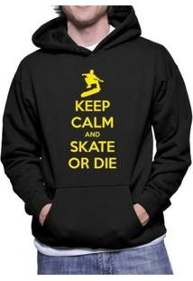 Moletom Criativa Urbana Keep Calm And Skate - Masculino