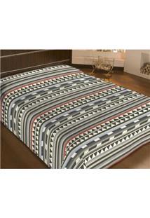 Cobertor Casal Camesa Em Microfibra 180 Fios - Étnico
