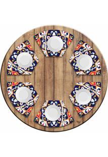 Jogo Americano Para Mesa Redonda Wevans Mandala Colorida Kit Com 6 Pçs Love Decor - Kanui