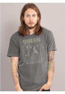 Camiseta Bandup! Bandup Premium Queen Classic In Concert Masculina - Masculino-Grafite