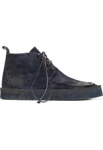 Marsèll Ankle Boot Com Cadarço - Azul