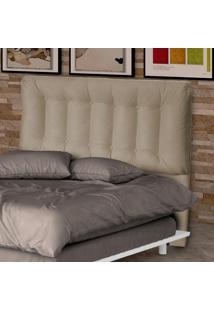 Cabeceira Casal 140 Cm Conforto 00280.0375 Caramelo/Suede Pena - Matrix