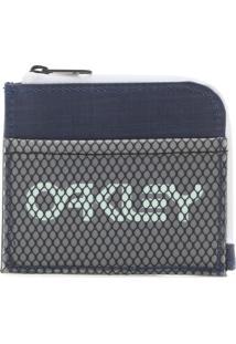 Carteira Oakley 90'S Zip Small Wallet Azul/Cinza