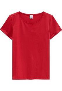 Blusa Malwee Decote Canoa Feminina - Feminino-Vermelho