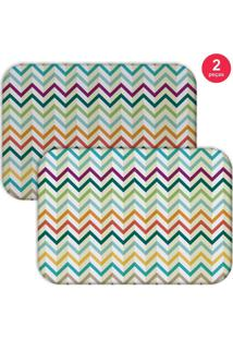 Jogo Americano Love Decor Retro Zig Zag Colorful Colorido
