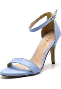 Sandália Salto Alto Flor Da Pele 1725 Azul Serenity