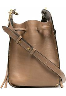 Isabel Marant Radja Studded Crossbody Bag - Marrom