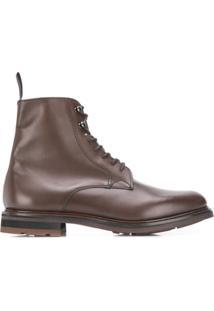 Church'S Ankle Boot Com Cadarço - Marrom