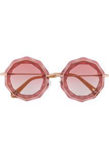 Chloé Eyewear Óculos De Sol Redondo - Rosa