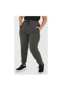 Calça De Moletom Calvin Klein Jeans Jogger Silk Verde