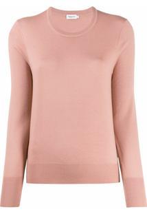 Filippa K Suéter De Tricô Com Gola Arredondada - Rosa