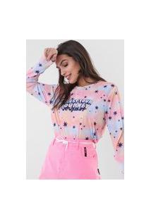 Camiseta Cantão Trust Your Journey Azul/Rosa
