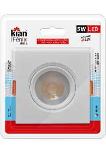 Luminária Spot Kian Mr16 Quadrado Led Fênix Ii Alt: 4,5Cm Comp.: 9,5Cm Larg: 9,5Cm 5W 6000K Branca.