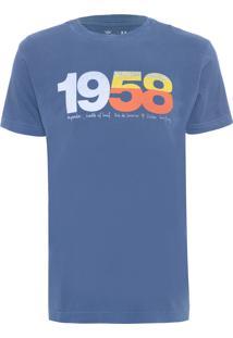 Camiseta Masculina Stone 1958 - Azul