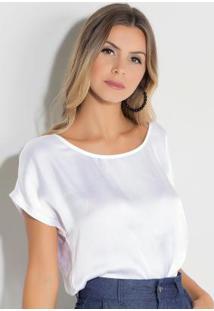 Blusa Quintess Branca Com Tira Nas Costas
