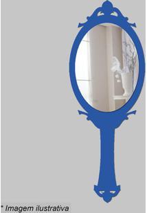 Espelho Princesa- Espelhado & Azul- 38X14X5Cm- Ccia Laser