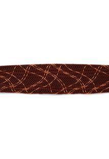 Cinto Cintura Medio Tranca Bicolor Marrom