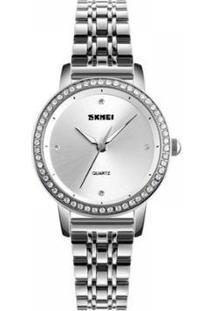Relógio Feminino Skmei Analógico Feminino - Feminino-Prata