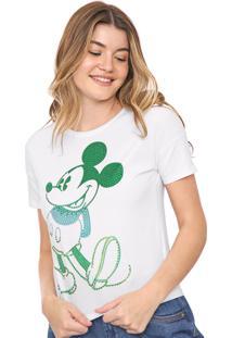 Blusa Cativa Disney Aplicações Mickey Branca