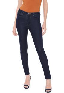 Calça Jeans Carmim Skinny Emana Basic Azul-Marinho