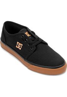 Tênis Dc Shoes Studio Tx La Masculino - Masculino-Preto+Dourado