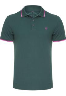 Polo Masculina 2 Lines - Verde