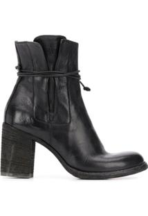 Officine Creative Bota Vernon 005 Com Salto 80Mm - Preto