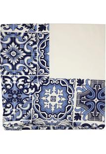 Toalha De Mesa Retangular Coimbra Azul 2,20X1,60Cm - 28079