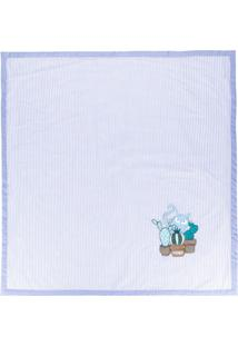 Fendi Kids Cobertor Listrado - Azul