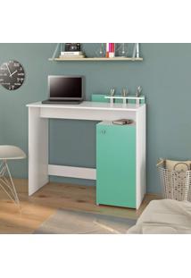 Escrivaninha Com Porta Objetos 1 Porta 1 Prateleira Ciranda Jcm Móveis Branco/Tifany