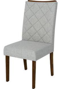 Cadeira Golden 2 Peças - Linho Claro - Rústico Malbec