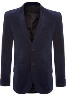 Blazer Masculino Veludo Collection - Azul