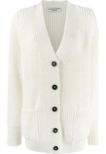 Katharine Hamnett London Bennie Button Up Cardigan - Branco