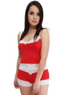 Baby Doll Camisete All Store Vermelho - Vermelho - Feminino - Dafiti