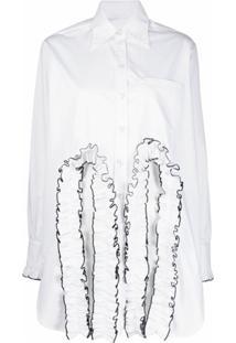 Christopher Kane Camisa Com Recorte Vazado - Branco