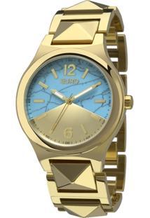 Kit Relógio Euro Turquesa Dourado Eu2033Ae/K4D Feminino - Feminino