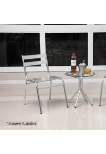 Conjunto De Mesa & Cadeiras Lorena- Prateado- 3Pçsalegro