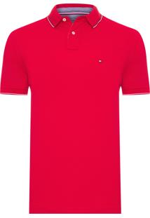 Polo Masculina Jasper Tipper - Vermelho