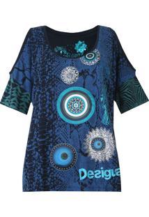 Blusa Desigual Irene Azul-Marinho - Kanui