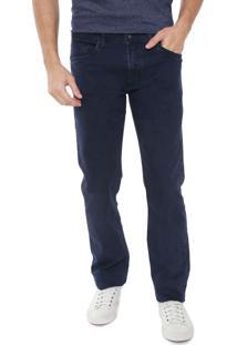 Calça Jeans Aramis Reta Londres Azul-Marinho