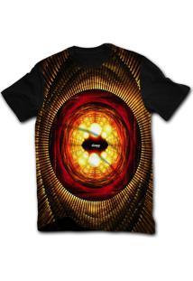 Camiseta Manga Curta Stompy Psicodelica 65 Preto