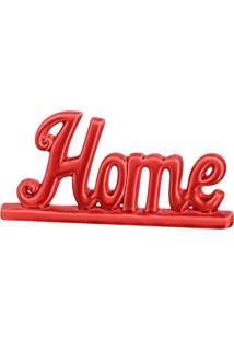 Escultura Decorativa Home Vermelha 13,5X28,5 Cm