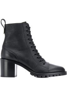 Jimmy Choo Ankle Boot Com Cadarço - Preto