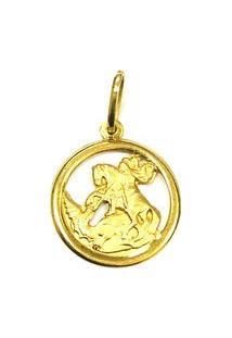 Pingente São Jorge De Ouro - Feminino-Ouro
